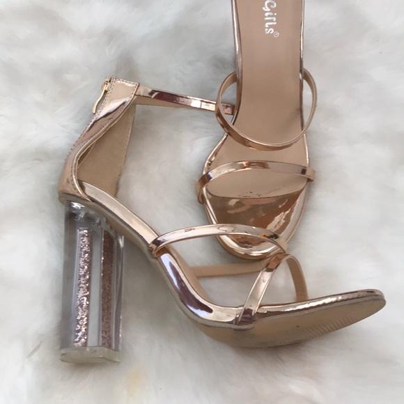 bec376980f8 Lola Shoetique Shoes - ✨ Lola Shoetique Rose Gold Glitter Block Heel ✨